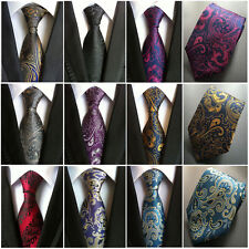 Mens High Quality Floral Paisley JACQUARD WOVEN Necktie Wedding Party Ties New
