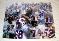 SIGNED BUFFALO BILLS POSTER 16X20 PHOTO ELECTRIC COMPANY 7 AUTOGRAPHES JD HILL