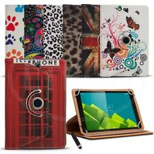 Fits Android 10 inch Tablet - Printed Design Universal Case 360 Rotation&MiniPen