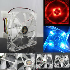 Silent Quiet 140mm Case Fan 4 Pin LED Lighting Fan Cooling CPU Computer Cooler