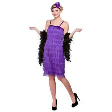 Wicked Ladies Adults Fancy Dress Purple Jazzy Flapper 1920's Costume