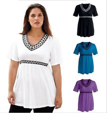 Loose Solid A-Line Color T-Shirt V-Neck Women Fashion Top Blouse long Tunic