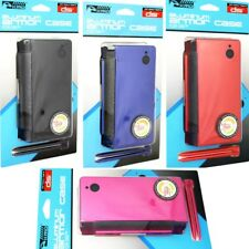 DSi Case Aluminum Armor Cover Dual Stylus Set Protector Black Blue Red Pink NEW