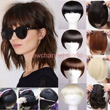 100 Real Natural Hair Extension Clip In Front Hair Bangs Fringe Thick Hairpiece