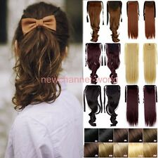Real as human Clip In on Ponytail Hair Extensions Straight Ponytail Hair piece