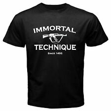 Immortal Technique Black Tshirt One Side New S M L XL 2XL 3XL