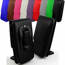 """For HTC 10 Evo (5.5"""") Leather Magnetic Flip Belt Clip Hip Case Pouch Holster"""