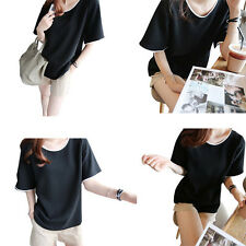 Class service Short sleeves Summer Female color Loose T-shirt 1X Blouse 2017