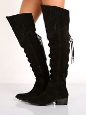 Matisse Shoes Understated Leather Bolo Thigh High Boot