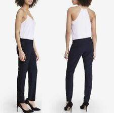 New Express Navy Twill Editor Ankle Pant With Side Tuxedo Stripe Size 2R