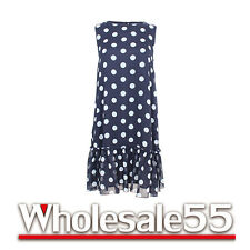 Tommy Hilfiger Polka Dot Chiffon Dress Black/White Size 4 NWT