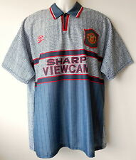 Manchester Utd Football Shirt 1995-96 Vintage Away Strip Official Authentic L