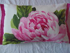 Designers Guild 100% Cotton Fabric Charlottenberg Peony Cushion Cover with trim