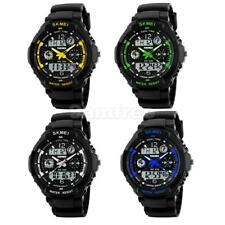 Mens Womens Analog Digital LED Date Day Army Sport Alarm Quartz Wrist Watch