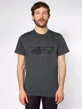 KillerBeeMoto: Sikorsky UH-60 Black Hawk Helicopter T-Shirt Dark Grey