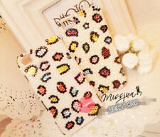 27#PEARL PANTHER PATTERN Handmade Bling Crystal Pearl iPhone 5/5S/SE CASE COVER