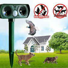 Solar Ultrasonic Dog Cat Fox Animals Repeller Chaser Scarer Pest Control Outdoor