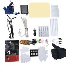 Professional Complete Beginner Tattoo Kit Machine Guns Power Supply Needles Grip