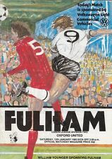 FULHAM HOME PROGRAMMES 1960s + 1970s + 1980s - Choose from list