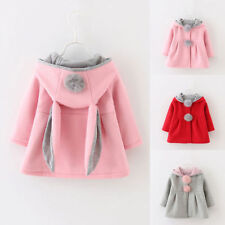 Kids Toddler Girls Coat Top Rabbit Ear Hooded Cape Outwear Hoodie Jacket Clothes