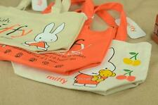Miffy Canvas Tote Bag  Bunny Rabbit Beige Orange Stylish Lunch Bag