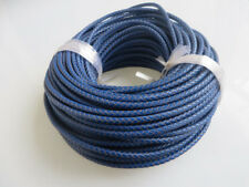 1/5 x Genuine Real Wrap Cotton 5mm Round Leather Royalblue Bolo Braided Cords
