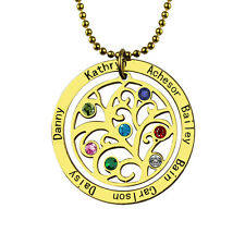 Personalized Birthstone Name Necklace Family Tree Necklace Gift For Mom