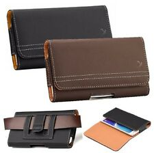 NEW VARIOUS CELL PHONE LEATHER HORIZONTAL POUCH CASE WITH CLIP HOLSTER COVER
