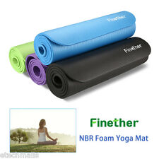 10/15MM NBR Thick Exercise Fitness Yoga Mat Blanket Pilates Pad Gym Mat Non Slip