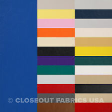 """MARINE VINYL FABRIC BOAT AUTO UPHOLSTERY - 33 COLORS 54"""" W FREE SHIPPING"""