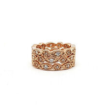 Stella Dot Stackable Deco Ring Rose Gold Tone