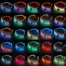 Glow LED Glasses Light Up Shades Flashing Rave Festival Party Glasses NEWAU