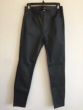 New Just Black Low Rise Skinny Stretch Jeans Gray Coated Women's Size 24, 28