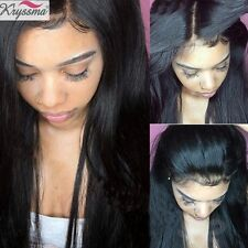 Indian Remy Hair Full Lace Wig Women's Silky Straight Human Hair Lace Front Wigs