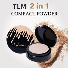 2 Colors 2 in 1 Pressed Powder & Cream Foundation Mineral Concealer Face Makeup