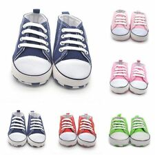 0-18M Kids Soft Sole Crib Shoes Sneakers Toddler Baby Boy Girl Shoes Prewalker