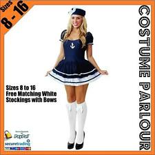 NEW Womens Sexy Black Navy Sailor Fancy Dress Ladies Costume