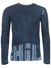 Chillaz LS Street Denim, Long Sleeve Shirt for men, indigo dark blue