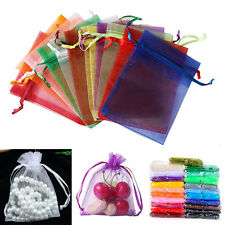 9x12cm Organza Wedding Party Favor Decoration Gift Candy Sheer Bags Pouches X100