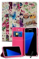 For Samsung Galaxy S7 Edge Duos Dual SIM Vintage Flower Magnetic Case & Mini Pen