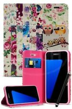 For Samsung Galaxy S7 Edge Duos Dual SIM - Bright Flower Magnetic Case & Pen