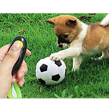 Dog Pet Puppy Training Clicker Sounds Button Obedience Trainer Aid Wrist Strap