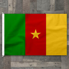 100% Cotton Stitched Cameroon World Flag African Pennant Banner Made in USA