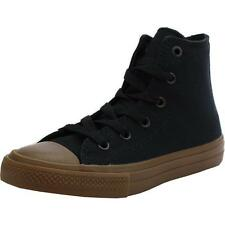 Converse Chuck Taylor All Star II Junior Black Gum Textile Trainers