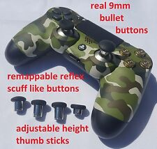 Woodland Camouflage Modded rapid fire PS4 controller reflex scuff like buttons