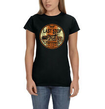 Last Stop Motorcycle Repair Route 66 Highway Chopper Biker Women's T-Shirt Tee
