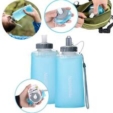 500 /750ml Collapsible Folding Silicone Drink Water Bottle Travel Outdoor Sports