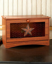 French Country Rooster Bread Box Rustic Western Country Star Bread Box Storage