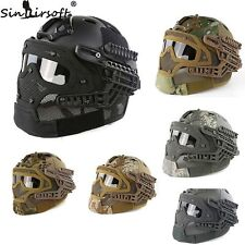 Tactical Helmet Mask with Goggle for Military Airsoft Paintball War Game Hunting