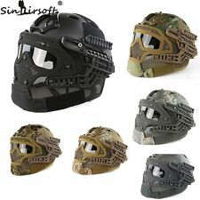 Tactical G4 Helmet Mask with Goggle for Military Airsoft War Game Hunting